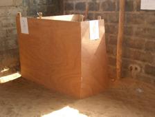 Le début de la construction des toilettes