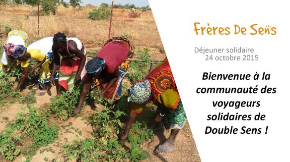 Présentation Frères de Sens - Déjeuner solidaire